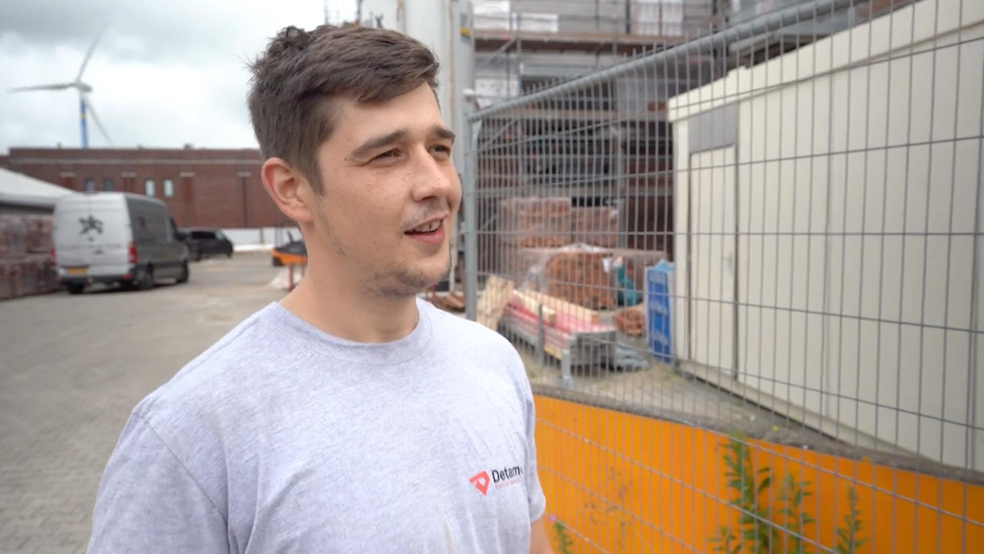 Filip, elektromonteur bij Detamo